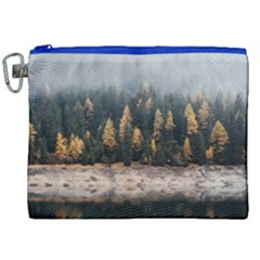 Trees Plants Nature Forests Lake Canvas Cosmetic Bag (xxl)