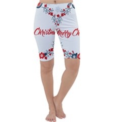 Merry Christmas Christmas Greeting Cropped Leggings