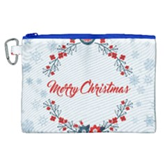 Merry Christmas Christmas Greeting Canvas Cosmetic Bag (xl)