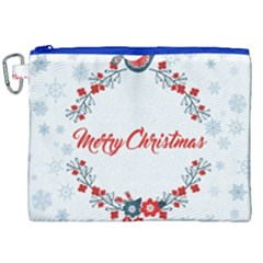 Merry Christmas Christmas Greeting Canvas Cosmetic Bag (xxl)