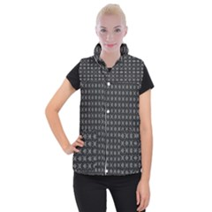 Kaleidoscope Seamless Pattern Women s Button Up Puffer Vest