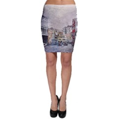 Venice Small Town Watercolor Bodycon Skirt by BangZart