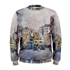Venice Small Town Watercolor Men s Sweatshirt