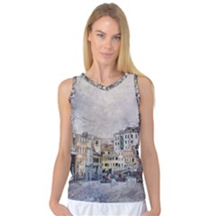 Venice Small Town Watercolor Women s Basketball Tank Top by BangZart