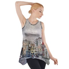 Venice Small Town Watercolor Side Drop Tank Tunic by BangZart
