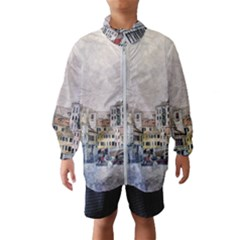 Venice Small Town Watercolor Wind Breaker (kids) by BangZart