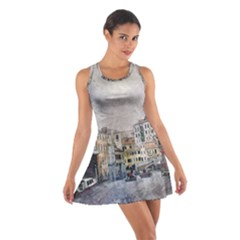 Venice Small Town Watercolor Cotton Racerback Dress by BangZart