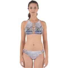 Venice Small Town Watercolor Perfectly Cut Out Bikini Set