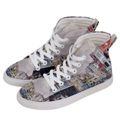 Venice Small Town Watercolor Women s Hi Top Skate Sneakers by BangZart