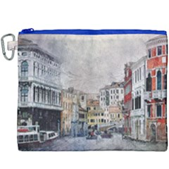 Venice Small Town Watercolor Canvas Cosmetic Bag (xxxl)