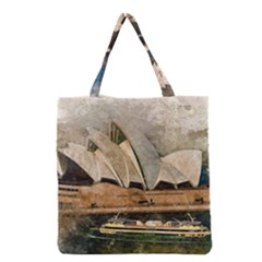 Sydney The Opera House Watercolor Grocery Tote Bag