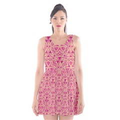 Tribal Pattern Hand Drawing Scoop Neck Skater Dress by Cveti