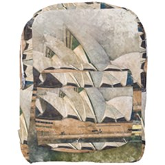 Sydney The Opera House Watercolor Full Print Backpack