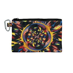 Spiky Abstract Canvas Cosmetic Bag (medium) by linceazul