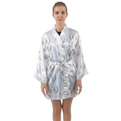 Angels Under The  Sun And Peace Doves Long Sleeve Kimono Robe by pepitasart