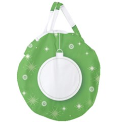 Christmas Bauble Ball Giant Round Zipper Tote