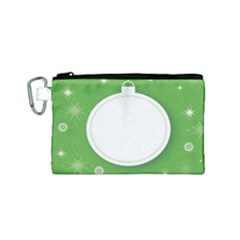 Christmas Bauble Ball Canvas Cosmetic Bag (small)