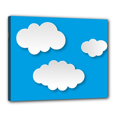 Clouds Sky Background Comic Canvas 20  X 16