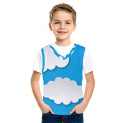 Clouds Sky Background Comic Kids  Sportswear
