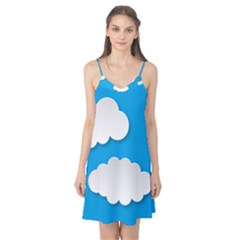 Clouds Sky Background Comic Camis Nightgown
