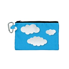 Clouds Sky Background Comic Canvas Cosmetic Bag (small)