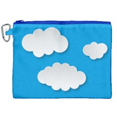 Clouds Sky Background Comic Canvas Cosmetic Bag (xxl)
