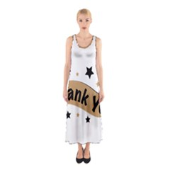 Thank You Lettering Thank You Ornament Banner Sleeveless Maxi Dress