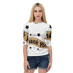 Thank You Lettering Thank You Ornament Banner Quarter Sleeve Raglan Tee