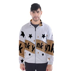 Thank You Lettering Thank You Ornament Banner Wind Breaker (men)