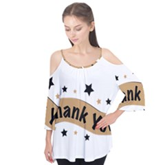 Thank You Lettering Thank You Ornament Banner Flutter Tees by BangZart