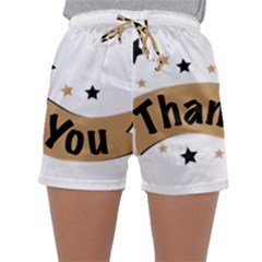 Thank You Lettering Thank You Ornament Banner Sleepwear Shorts