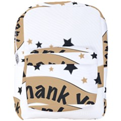 Thank You Lettering Thank You Ornament Banner Full Print Backpack