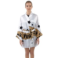 Thank You Lettering Thank You Ornament Banner Long Sleeve Kimono Robe