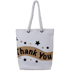 Thank You Lettering Thank You Ornament Banner Full Print Rope Handle Tote (small)