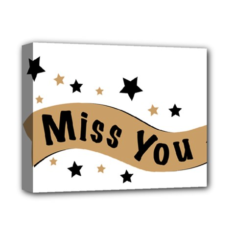 Lettering Miss You Banner Deluxe Canvas 14  X 11