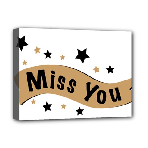 Lettering Miss You Banner Deluxe Canvas 16  X 12   by BangZart