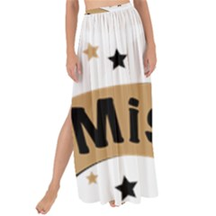 Lettering Miss You Banner Maxi Chiffon Tie Up Sarong