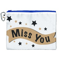 Lettering Miss You Banner Canvas Cosmetic Bag (xxl)