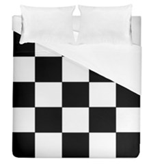 Grid Domino Bank And Black Duvet Cover (queen Size) by BangZart