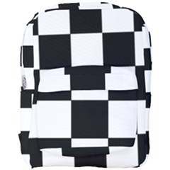 Grid Domino Bank And Black Full Print Backpack
