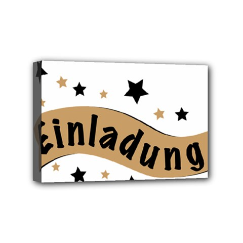 Einladung Lettering Invitation Banner Mini Canvas 6  X 4  by BangZart