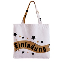 Einladung Lettering Invitation Banner Zipper Grocery Tote Bag by BangZart