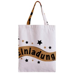 Einladung Lettering Invitation Banner Zipper Classic Tote Bag by BangZart