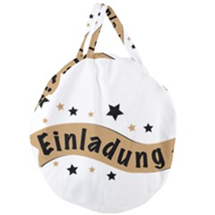 Einladung Lettering Invitation Banner Giant Round Zipper Tote