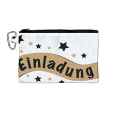 Einladung Lettering Invitation Banner Canvas Cosmetic Bag (medium)