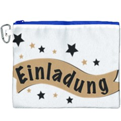 Einladung Lettering Invitation Banner Canvas Cosmetic Bag (xxxl)