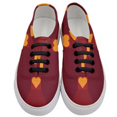 Heart Red Yellow Love Card Design Women s Classic Low Top Sneakers