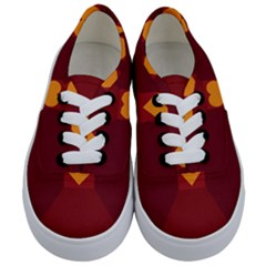 Heart Red Yellow Love Card Design Kids  Classic Low Top Sneakers