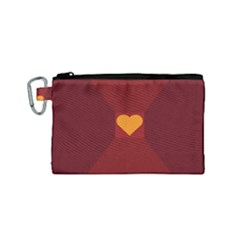 Heart Red Yellow Love Card Design Canvas Cosmetic Bag (small) by BangZart