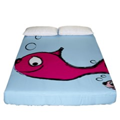 Fish Swarm Meeresbewohner Creature Fitted Sheet (california King Size) by BangZart